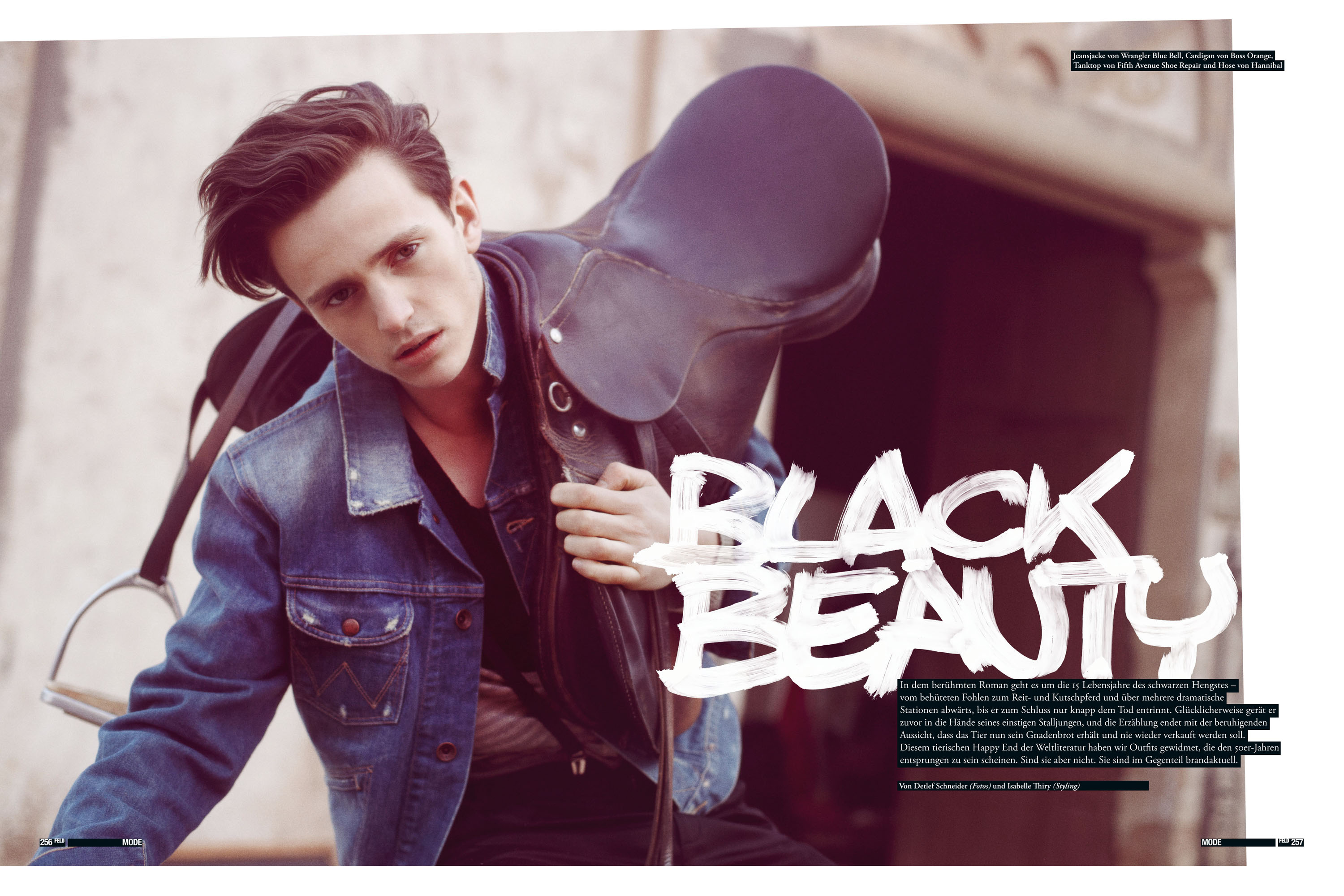 Feld Homme magazine, Model Alex Dunstan, Detlef Schneider Photography