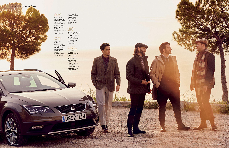 GQ, Seat, Produktion Lâle Aktay, Models Clemens von Hoyos, Michael Kollas, Valentin Bozenhardt, Fashion Editorial, Detlef Schneider Photography
