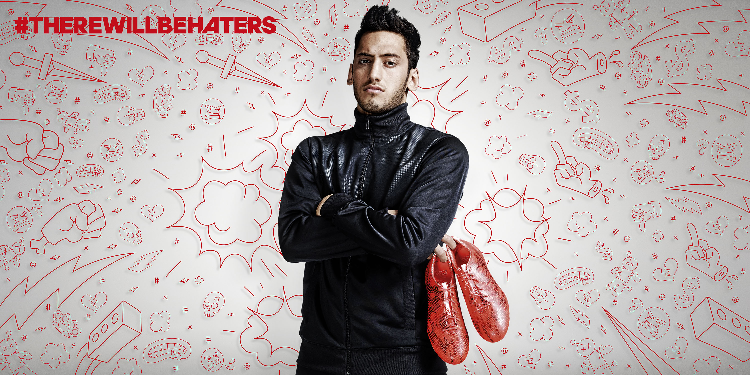 #There will be Haters Campaign, football,Hakan Çalhanoğlu, Detlef Schneider Photography