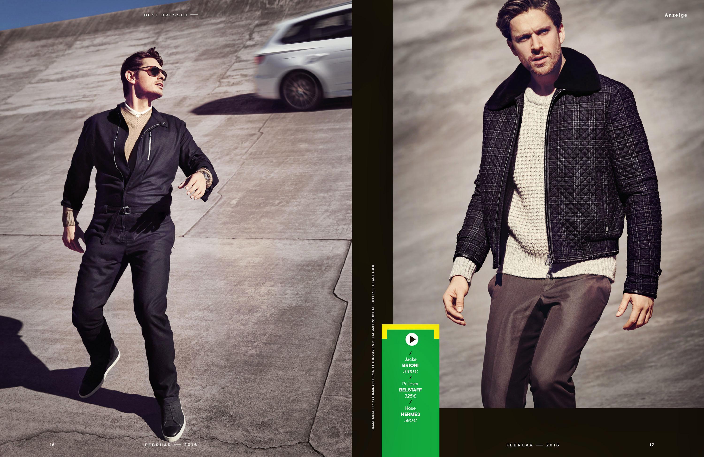 Detlef Schneider Photography,  GQ Mgazine, best dressed, Seat, Styling Lale Aktey, Model Michael Pichler, Tom Peter